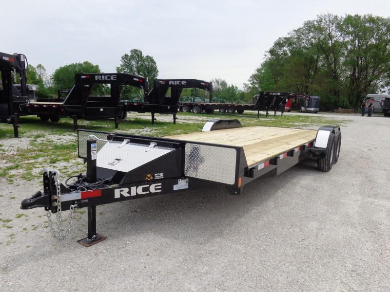 "Rice 82"" x 20'+2' 9900# Upgraded Flatbed Bumper Pull  in Ashburn, VA"