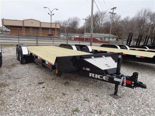 "Rice 82"" x 18'+2' Bumper Pull 9900# Upgraded Flatbed"