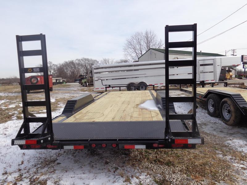 "Delco 102"" x 20'+2' Dovetail Bumper Pull 14000# Equipment Trailer"