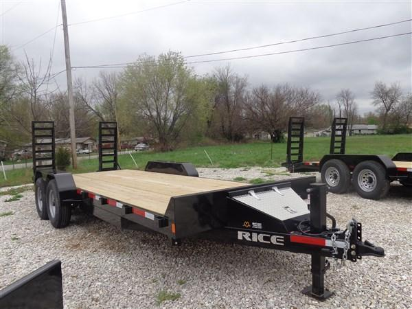 Rice 82 x 20+2 14000# Bumper Pull Heavy Duty Flatbed Trailer in Bella Vista, AR