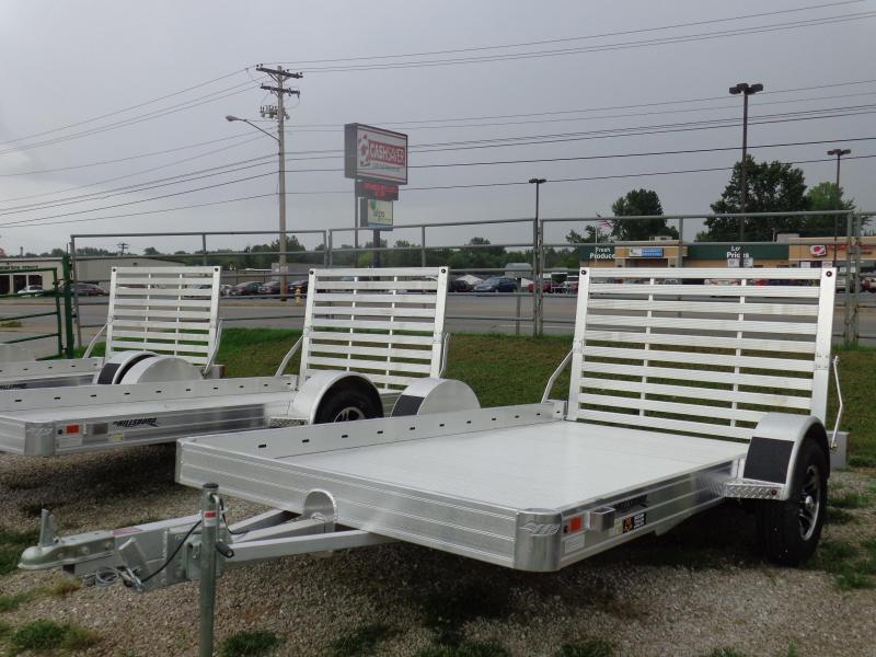 "Hillsboro 78"" x 14' Bumper Pull Aluminum Utility Trailer"