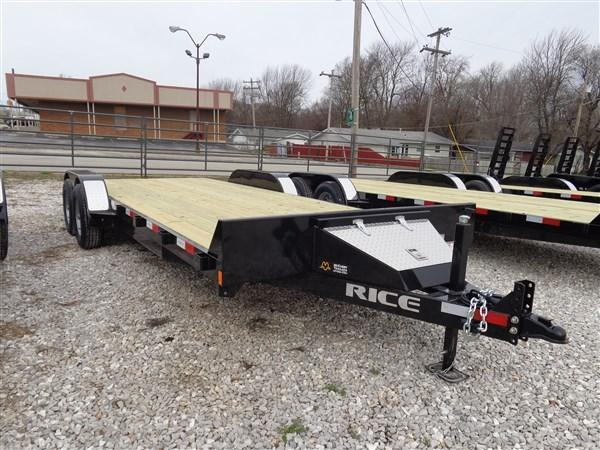 """Rice 82"""" x 20'+2' Bumper Pull 9900# Upgraded Flatbed"""