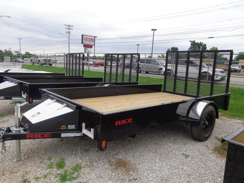 "Rice 76"" x 12' Bumper Pull Stealth Black"