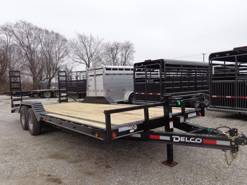 Delco 102 x 20'+2' Dovetail Bumper Pull 14000# Flatbed Trailer