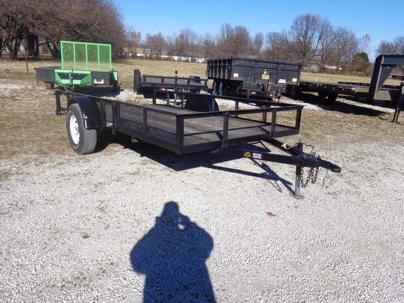 "USED 2002 Doub 75"" x 12' Bumper ATV Utility Trailer"