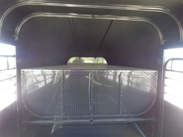 Delco 24 x 6'8 Premium Gooseneck Stock Trailer Metal Top Dark Gray