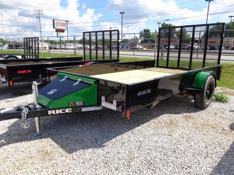 "Rice 76"" x 12' Bumper Pull Stealth Black with JD Green-Out"
