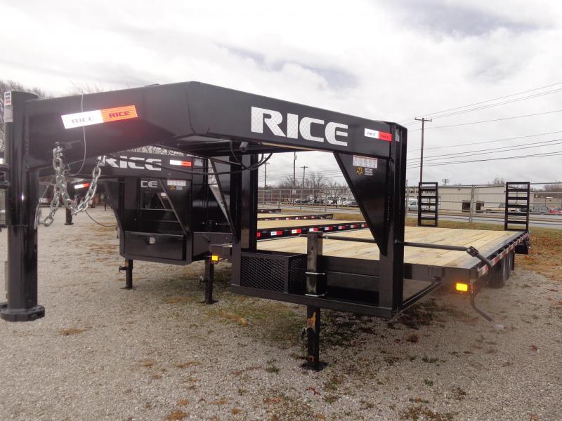 """Rice 102"""" x 20'+5' 14000# Gooseneck Deckover SE Model Equipment Trailer"""