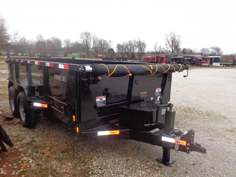 Rice 82 x 14 14000# Bumper Pull Dump Trailer