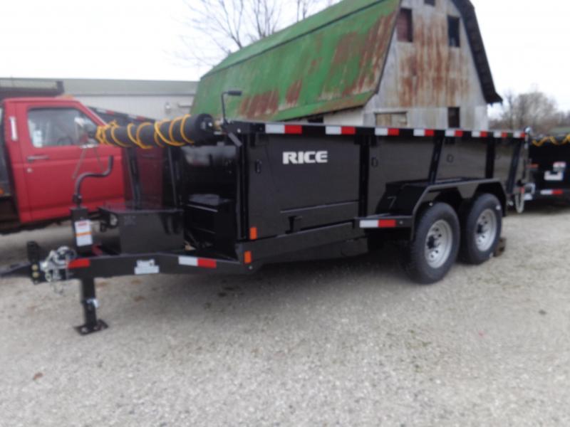 "Rice 82"" x 14' Bumper Pull 14000# Dump Trailer"