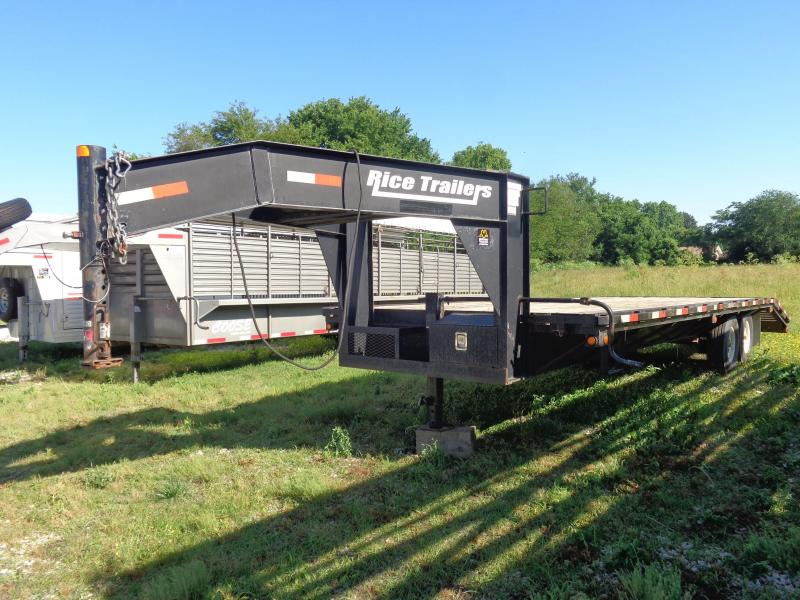 USED 2008 Rice 20'+5' Rice 14000# Gooseneck Deckover Equipment Trailer in Ashburn, VA