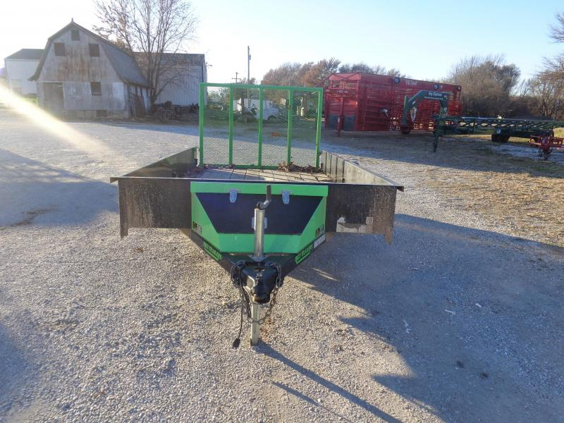 Used 2014 Rice 76 x 12 Bumper Stealth Black with Lime Green-Out