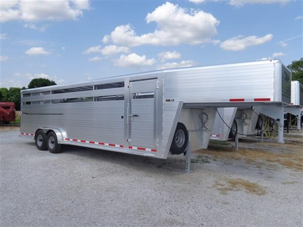 2020 Hillsboro 24' x 7' Endura Aluminum Gooseneck Livestock Trailer