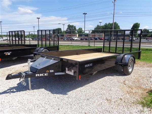 "Rice 76"" x 12' Stealth Bumper Pull Black  in Ashburn, VA"