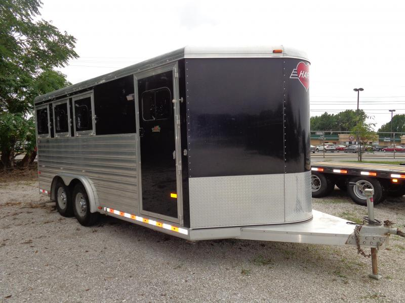 Used 2008 Hart  8 x 20 Bumper Pull 3-Horse Trailer