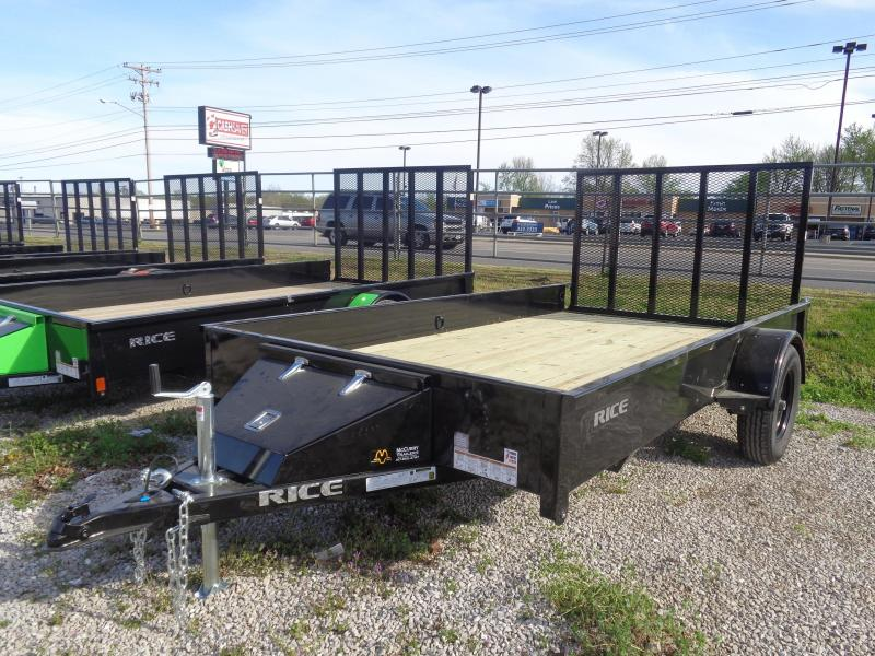 "Rice 76"" x 12' Bumper Pull Stealth Black with Black-Out"