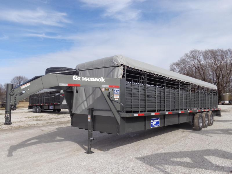 2019 Gooseneck Brand 32' x 6'8 Bar Top Livestock Trailer