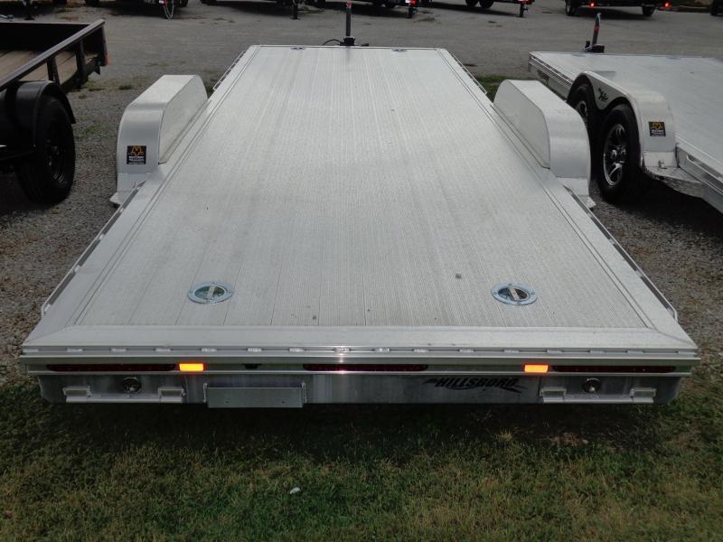 """Hillsboro 16' x 6'10"""" Bumper Pull Aluminum Car Hauler Flatbed Trailer"""