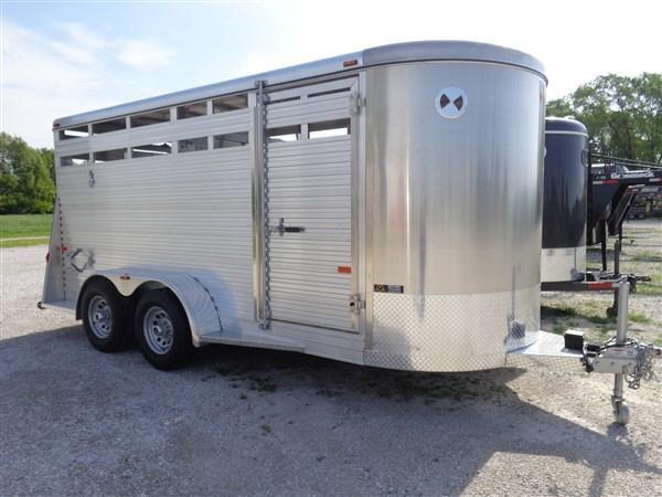 W-W 16 x 6 All Around Aluminum Bumper Pull Livestock Trailer
