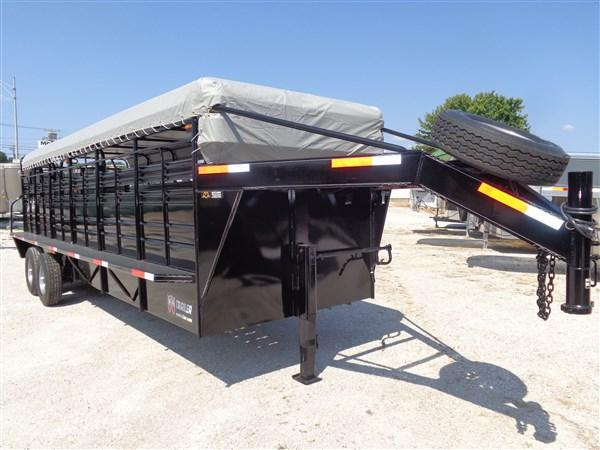 W-W 24 x 6'8 Roustabout Black W/ Light Gray Tarp