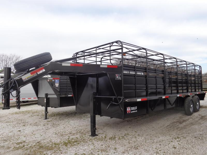 W-W 24 x 6'8 Roustabout Gooseneck Stock Trailer Dark Shadow Gray  in Ashburn, VA