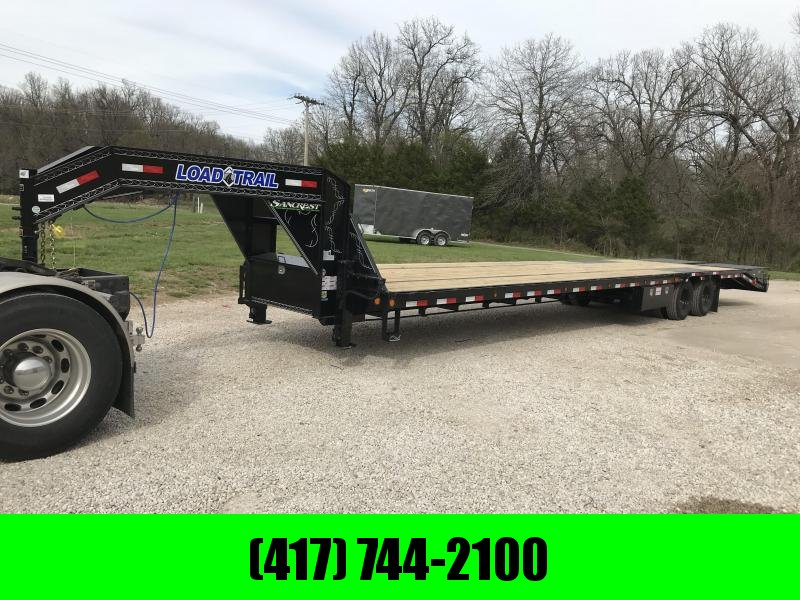 2018 Load Trail 102x40 Gooseneck Flatbed Trailer W/ Adj. Ratchet Rail/ Max Ramps/ Air ride/ Hydraulic Brakes