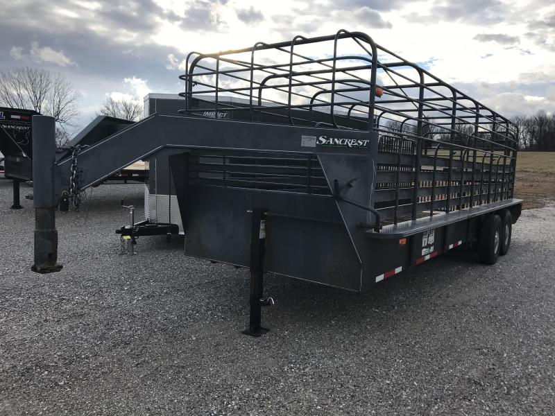 "2004 FAIR WEST 6'8""X24' Livestock Trailer W/7K AXLES in Ashburn, VA"