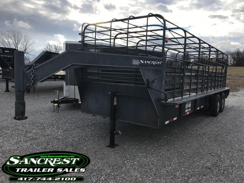 "2004 FAIR WEST 6'8""X24' Livestock Trailer W/7K AXLES"