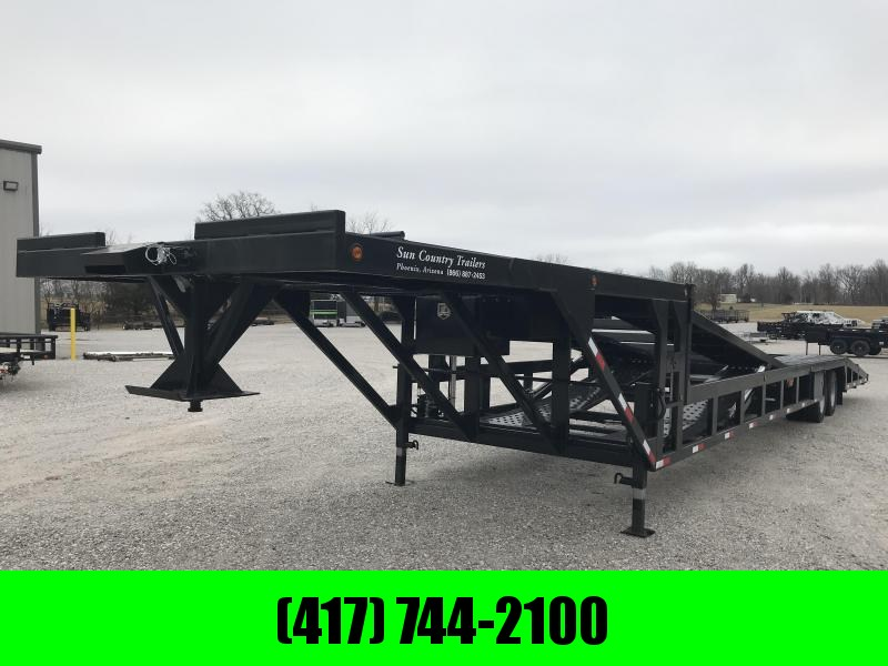 2019 SUN COUNTRY DROP DECK 4/5 CAR HAULER WITH LIFT/ TILT AND TUNNEL TOOLBOX