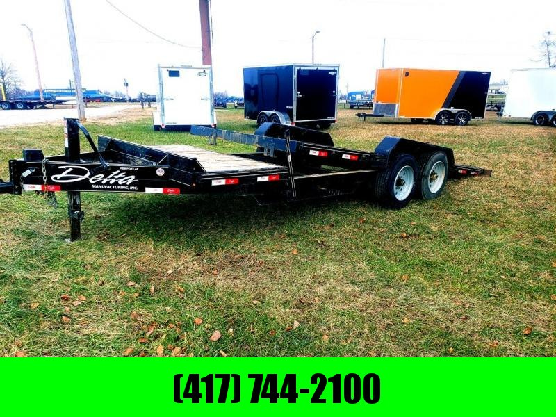 2017 Delta Manufacturing 83X20 TILT-N-GO Equipment Trailer W/7K AXLES AND 17.5 WHEELS/TIRES