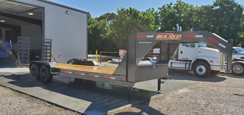 2019 MAXXD 83X24(22+2) TANDEM 14K GOOSENECK W/ EQUIPMENT STAND UP RAMPS