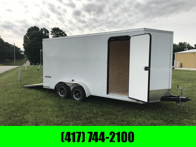 2019 Impact Trailers 7X16 W/7' HEIGHT WHITE  Enclosed Cargo Trailer