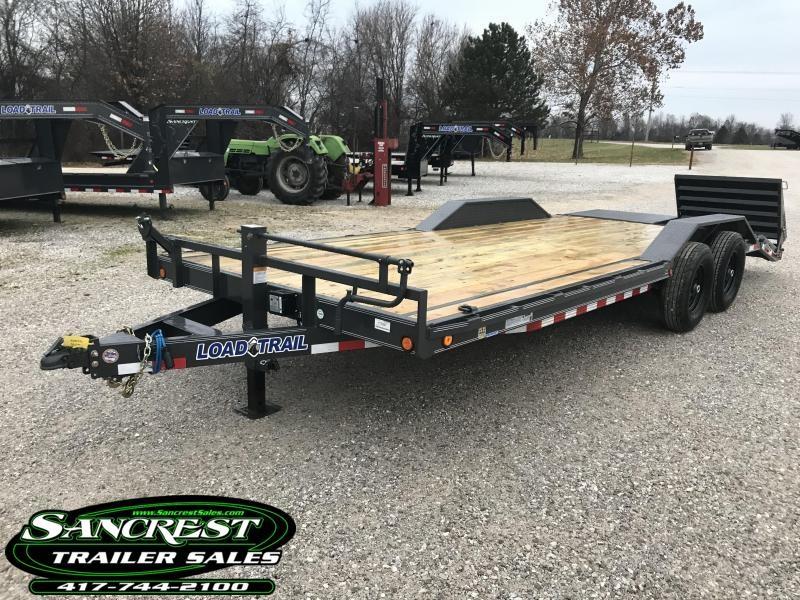 2019 Load Trail 102x22 Equipment Trailer w/driveover fenders/7k axles/max ramps