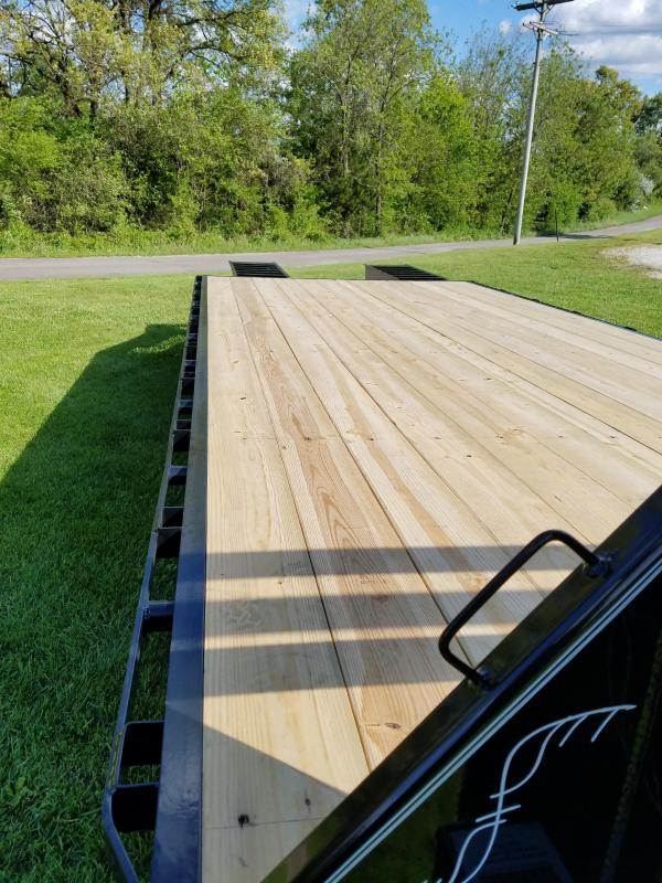 2017 Load Trail 102x25 GOOSENECK Trailer W/ Flip Up Ramps