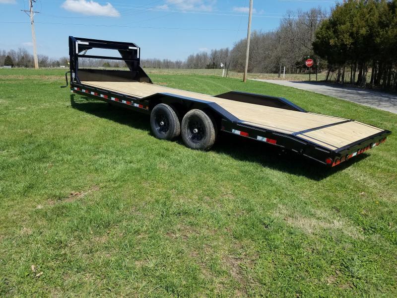 2018 Load Trail 102x24 TANDEM GOOSENECK CAR HAULER