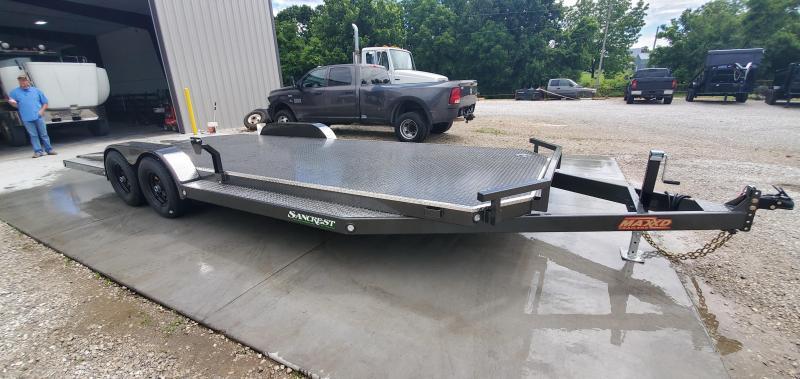 2019 MAXXD 83X22 TANDEM 10K MAXXD METALLIC GRAY N5X CAR HAULER W/SPLIT TAIL