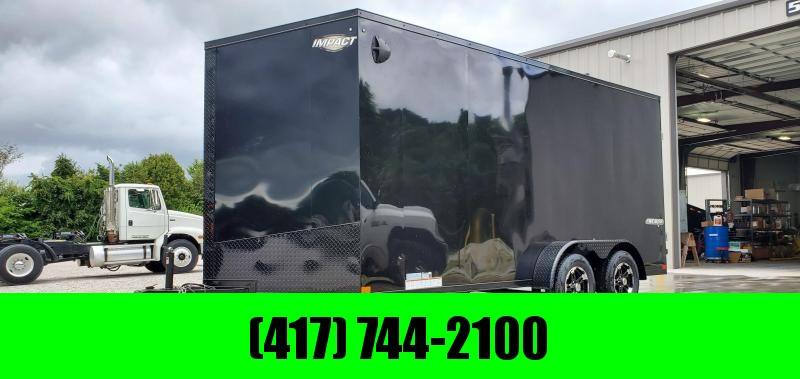 2020 IMPACT 7X16 TANDEM 7K BLACKED OUT CARGO W/7' HEIGHT & ALUMINUM WHEELS in Ashburn, VA