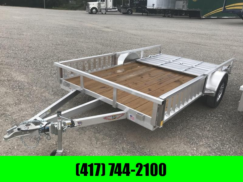 2019 H and H Trailer 82X12  Utility Trailer W/BI-FOLD GATE AND REMOVABLE RAMP SIDE RAILS