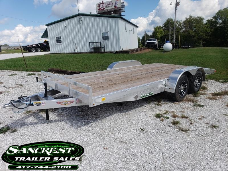 2018 H and H Trailer 82 x 18 CAR HAULER W/3500# AXLES/ALUM. RIMS