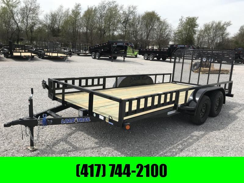 2019 Load Trail 83X16 TANDEM UTILITY W/4' GATE & RAMP RAILS
