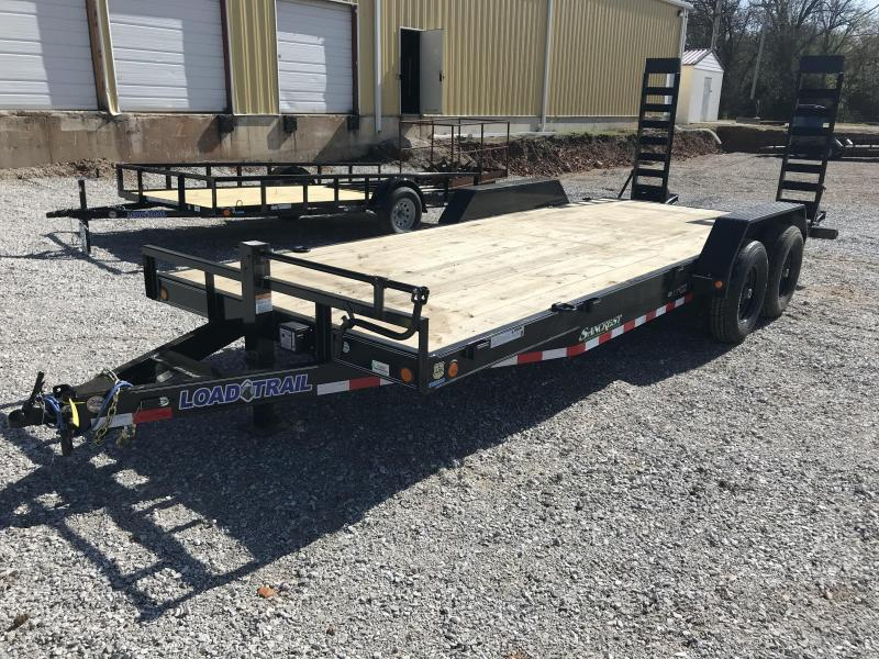 2018 Load Trail 83x20 Equipment Trailer W/Drop leg fold up ramps