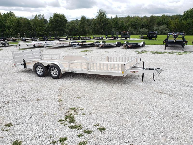 2019 H&H 82X20 TANDEM Utility Trailer W/3500 AXLES AND RAMP RAILS