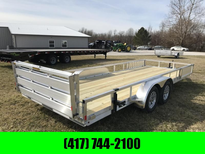 2019 H&H 82X20 TANDEM Utility Trailer W/3500 AXLES AND RAMP RAILS in Ashburn, VA