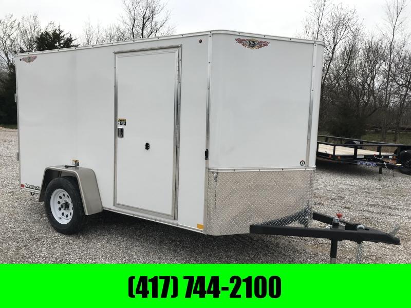 2019 H&H 5X10 WHITE CARGO W/ RAMP DOOR & CURBSIDE DOOR