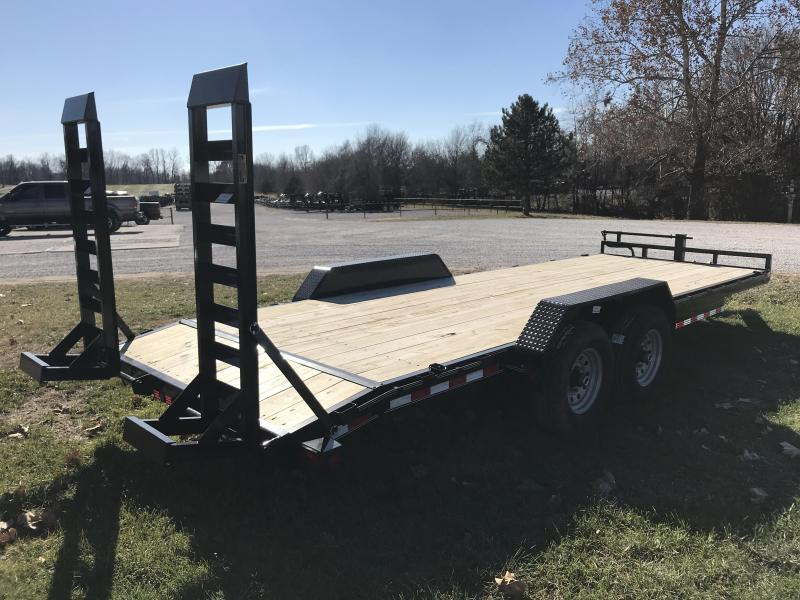2019 Load Trail 83X22 Equipment Trailer W/7K AXLES AND STAND UP RAMPS