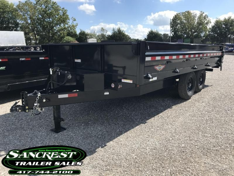 2019 H and H 96X16 DECKOVER Dump Trailer W/7 GA. FLOOR
