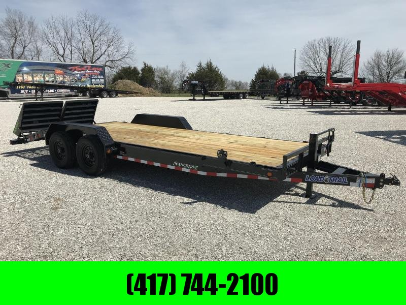 2019 LOAD TRAIL 83X22(19+3) TANDEM EQUIPMENT TRAILER W/7K AXLES AND MAX RAMPS