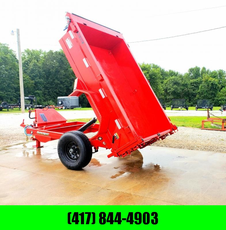 2019 MAXXD 60 x 8 DUMP TRAILER W/ 5200LB SINGLE AXLE