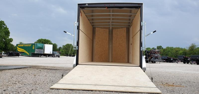 "2019 H&H 7X12 TANDEM 7K WHITE CARGO W/6'6"" HEIGHT & RAMP DOOR"