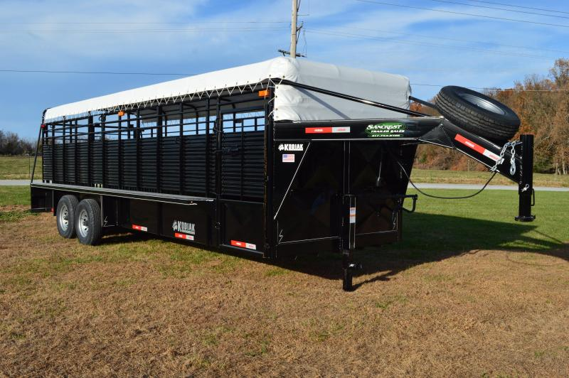 "2017 Kodiak 24'x6'8"" Livestock Cattle Trailer"